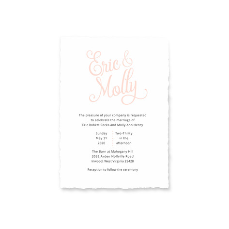 Socks Wedding Stationery