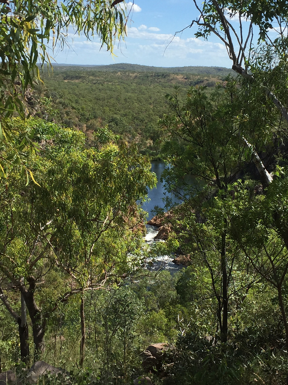Lookout down to the lower pools at Edith Falls.
