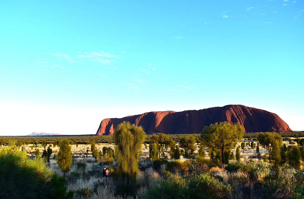 Uluru at Sunrise from the viewing platform