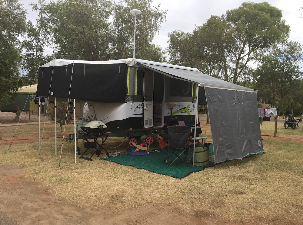 All set up at the BIG4 MacDonnell Ranges