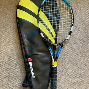"Babolor Tennis Racket, with Bag, 27"""