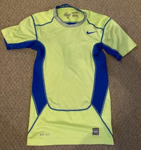 Nike, Yellow/Blue Compression Top