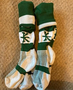 8 Pairs - Green & White Rugby Socks