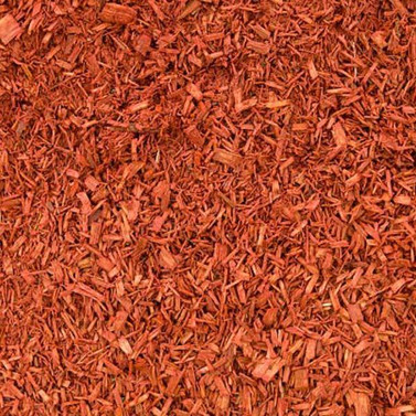 Red Dyed Mulch Chip