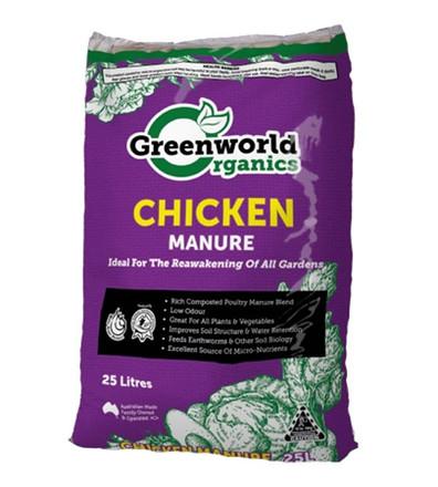Greenworld Chicken Manure 25 litre