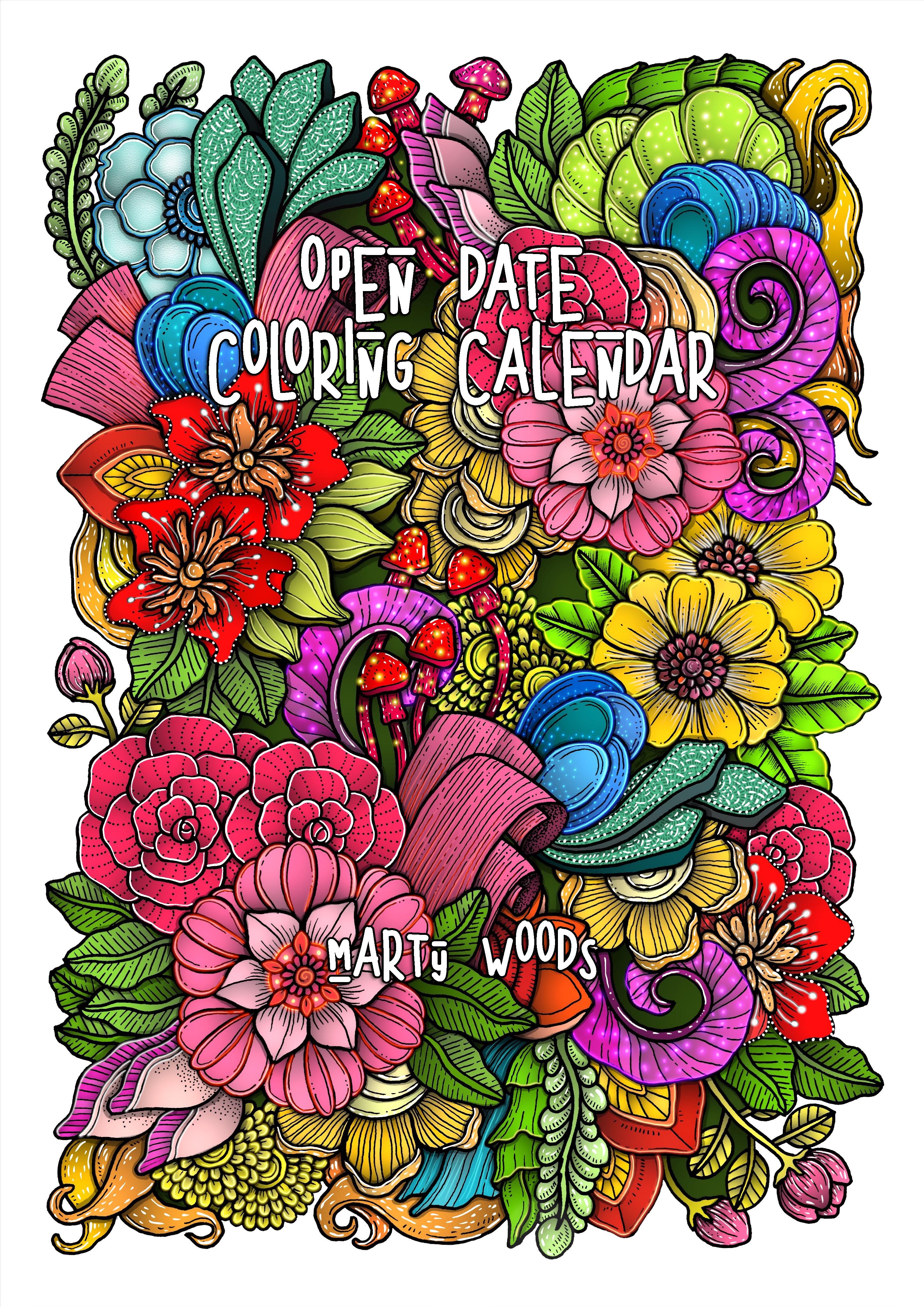 Open Date Coloring Calendar