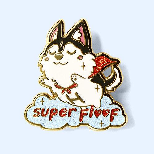 Super Floof Hero Husky Enamel Pin