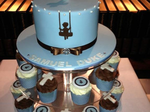 Christening Cake & Cookies