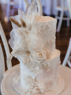 Textured Buttercream with Rice Paper Sails