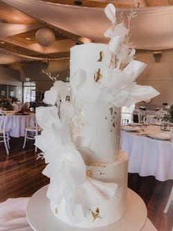 Wafer Ruffles Buttercream Wedding Cake