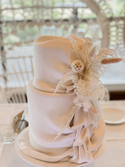 Draped Fondant with Preserved Florals