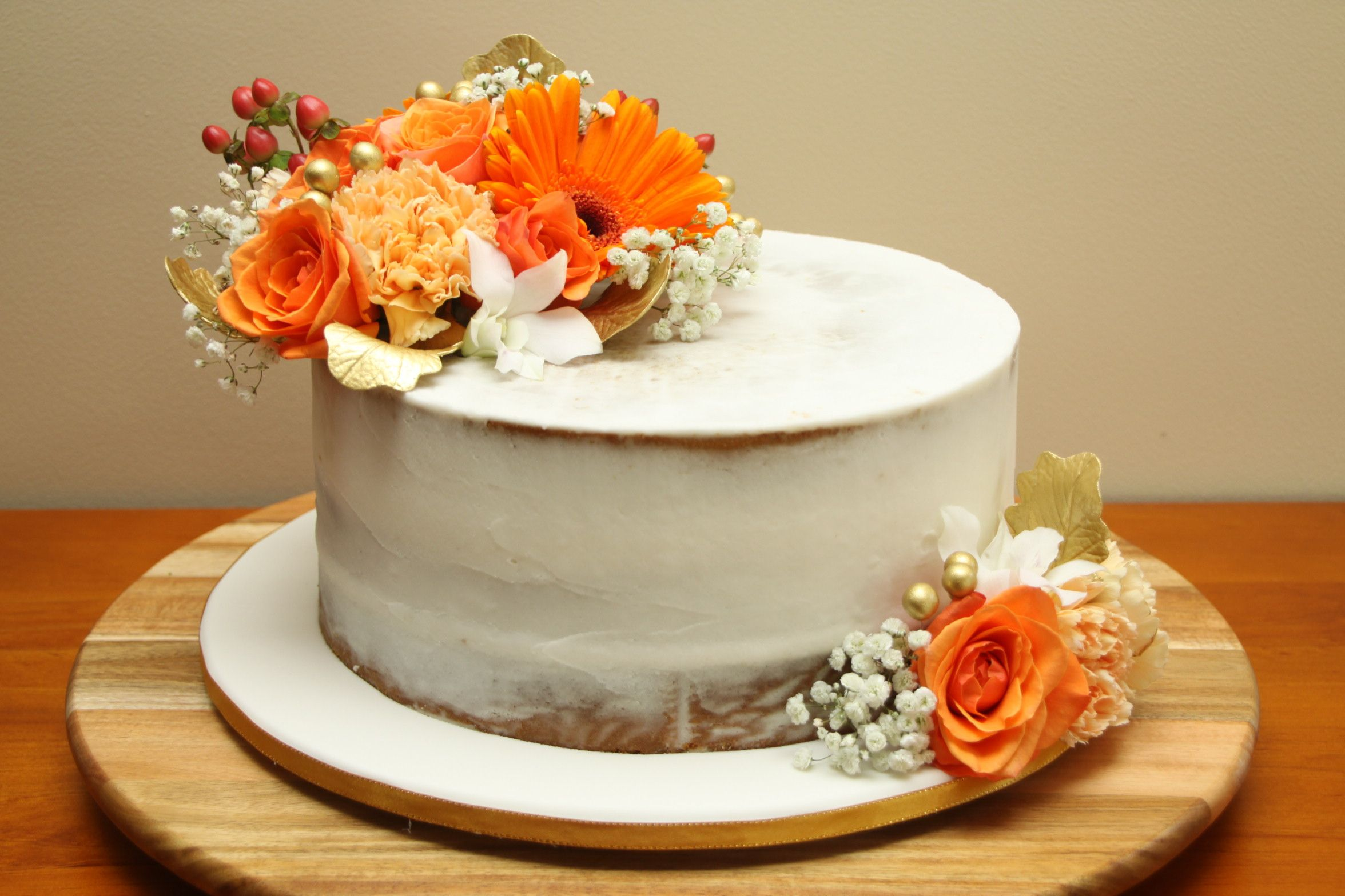 Orange & Gold Celebration Cake