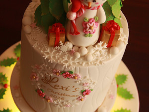 Christmas in a cake!
