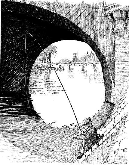 FISHERMAN UNDER the BRIDGE