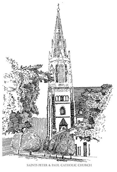 ST. PETER  PAUL CATHOLIC CHURCH STEEPLE