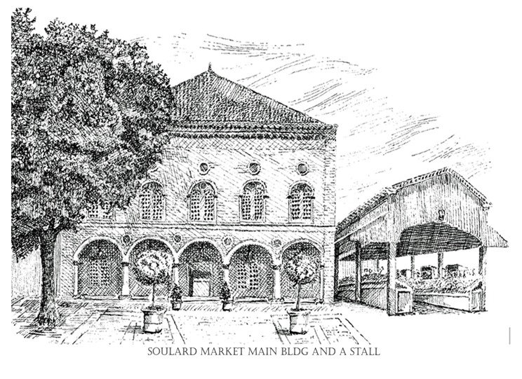 SOULARD MARKET BUILDING AND STALL