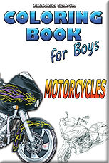 Colring Book for Boys Motorcycles