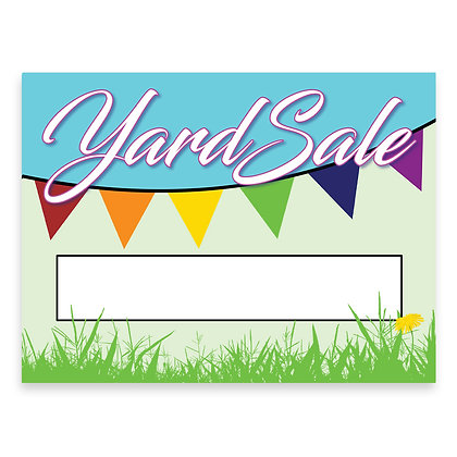 Yard Sale Stake Sign - package of 5, 10, or 25