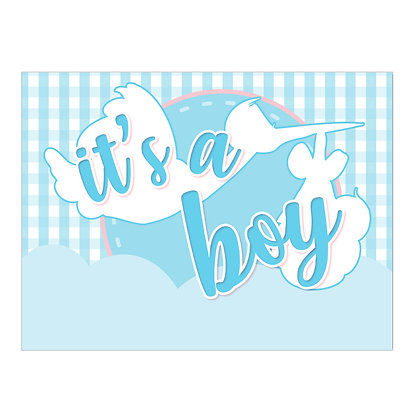 It's A Boy Lawn Stake Sign.- package of 5, 10, or 25