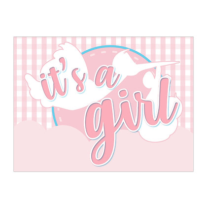 It's A Girl Lawn Stake Sign - package of 5, 10, or 25
