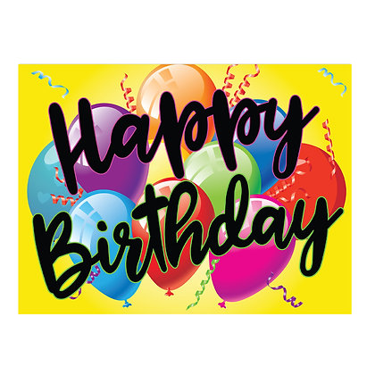 Happy Birthday Stake Sign - package of 5, 10, or 25