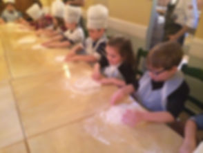 kids pizza making parties