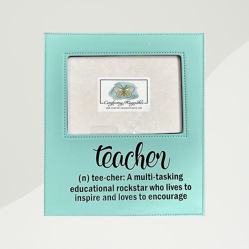 Leatherette Teacher Frame