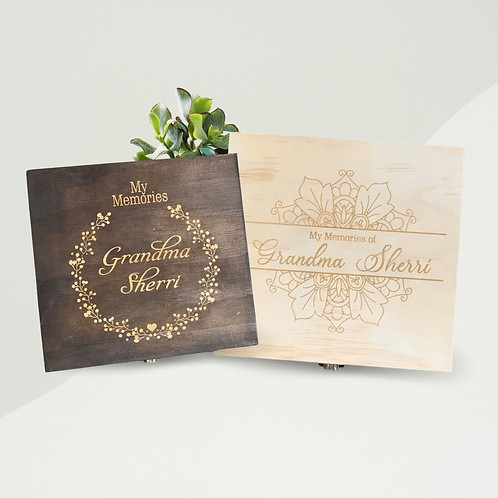 Engraved Grandparent Memory Box