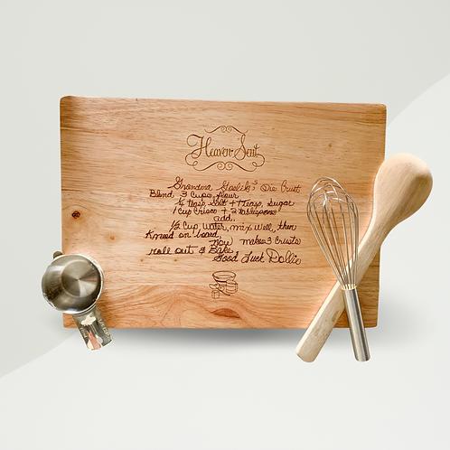 Custom Engraved Cutting Board - Pricing Varies