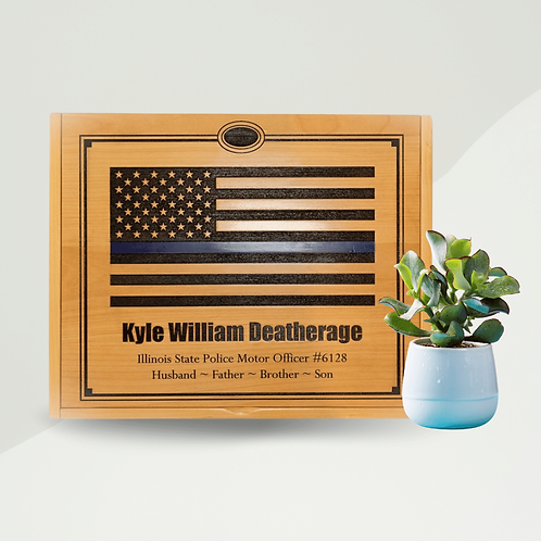 Engraved Handmade XL Memory Box - Pricing Varies