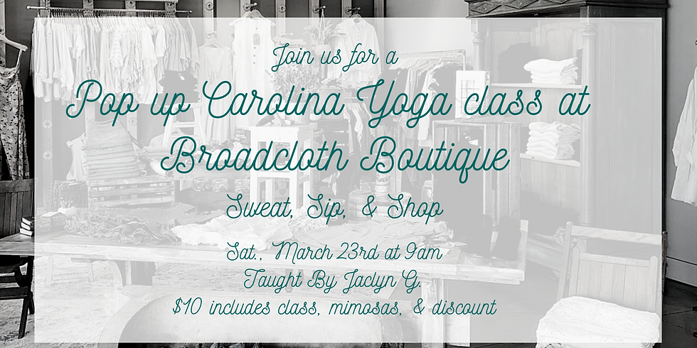 Yoga at Broadcloth Boutique