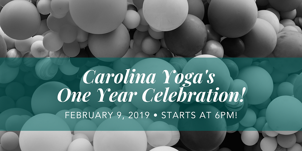 Carolina Yoga One Year Celebration