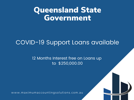 Queensland State Government COVID-19 Support Loans available