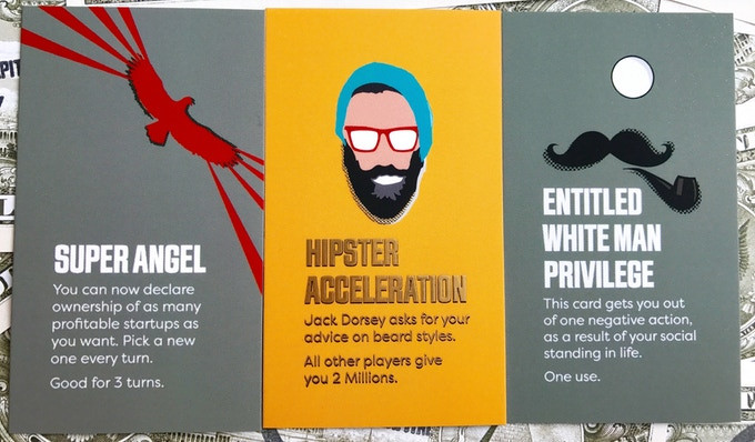 Cards from Maybe Capital's Silicon Valley board game