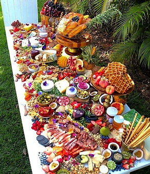 fruityfountains.co.uk also cater savory items to, amazing cold buffets skillfuly prepared and arranged for your event all across south wales.