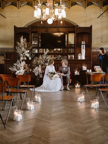 Pop Up Bruiloft in de stad ceremonie