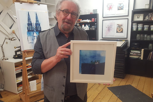 Raymund Richter mit Rahmen 30 x 30 cm