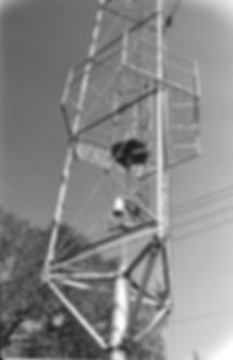 Austin moonlight tower, showing the support pole