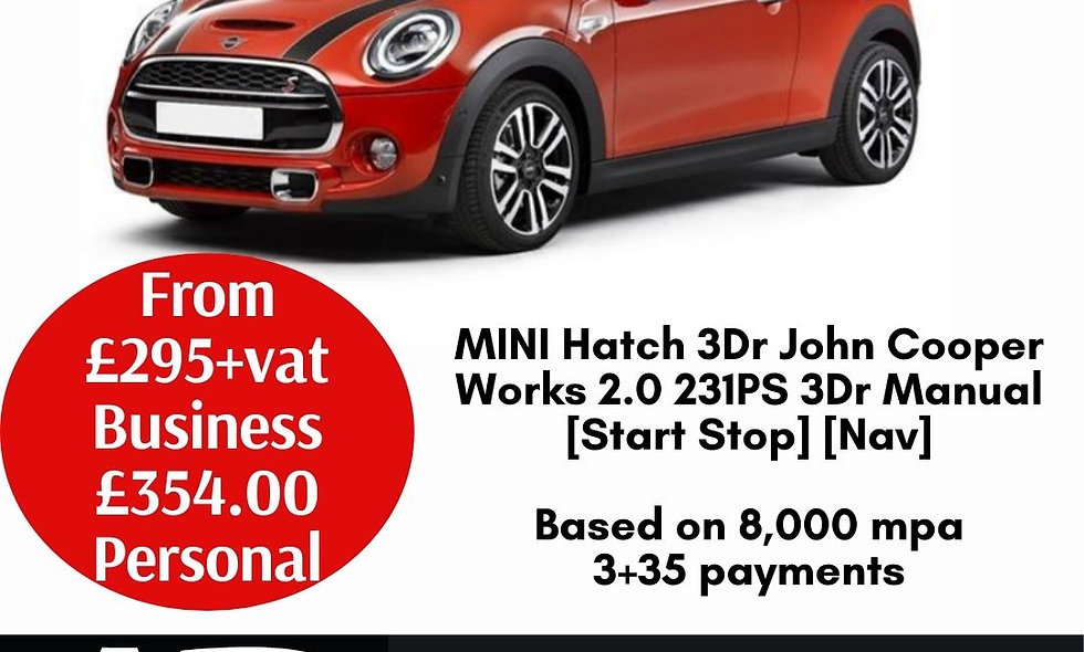 MINI Hatch 3Dr John Cooper Works 2.0 231PS 3Dr Manual [Start Stop] [Nav]