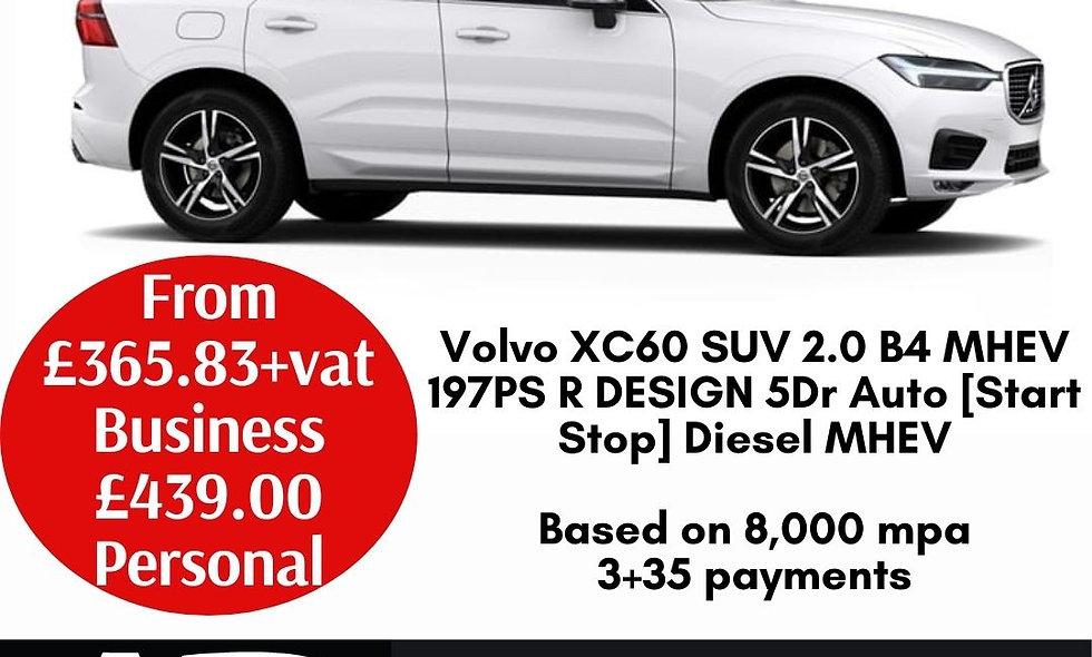 Volvo XC60 SUV 2.0 B4 MHEV 197PS R DESIGN 5Dr Auto [Start Stop] Diesel MHEV