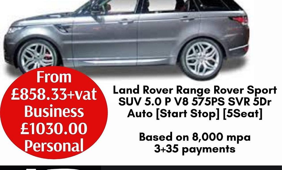 Land Rover Range Rover Sport SUV 5.0 P V8 575PS SVR 5Dr Auto [Start Stop] [5Seat