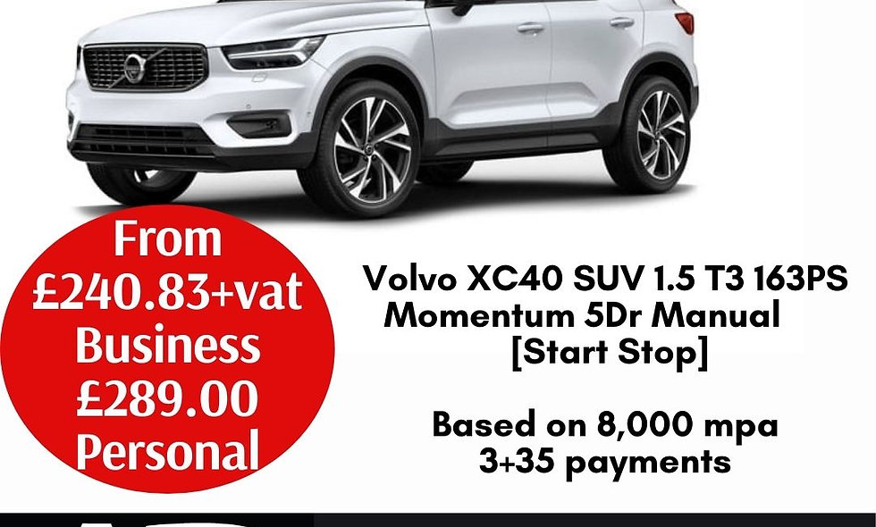 Volvo XC40 SUV 1.5 T3 163PS Momentum 5Dr Manual [Start Stop]