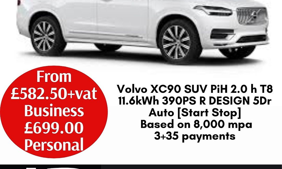 Volvo XC90 SUV PiH 2.0 h T8 11.6kWh 390PS R DESIGN 5Dr Auto [Start Stop]