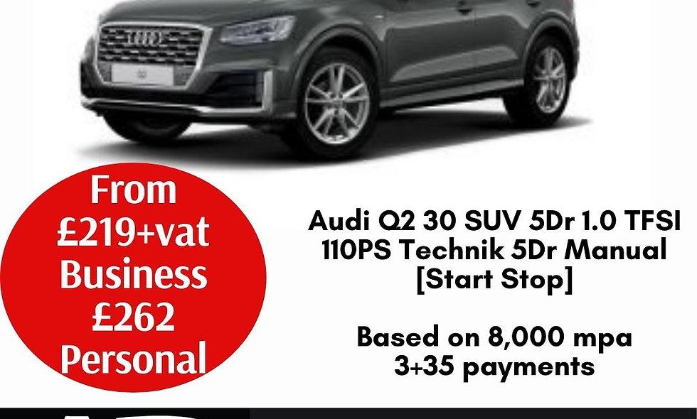Audi Q2 30 SUV 5Dr 1.0 TFSI 110PS Technik 5Dr Manual [Start Stop]