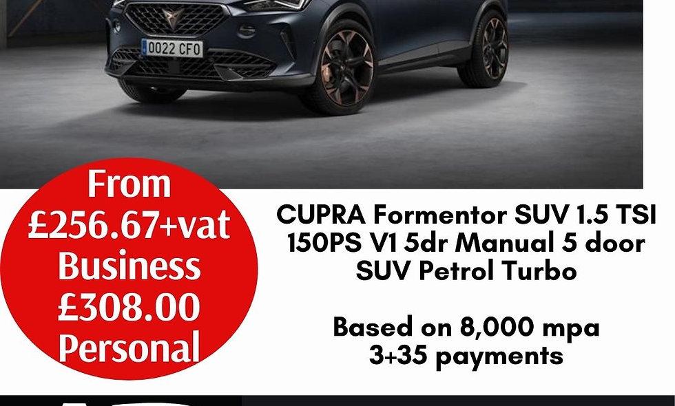 CUPRA Formentor SUV 1.5 TSI 150PS V1 5dr Manual 5 door SUV Petrol Turbo