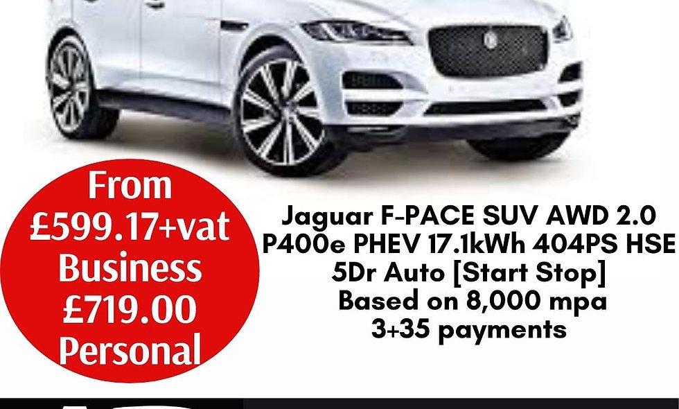 Jaguar F-PACE SUV AWD 2.0 P400e PHEV 17.1kWh 404PS HSE 5Dr Auto [Start Stop]