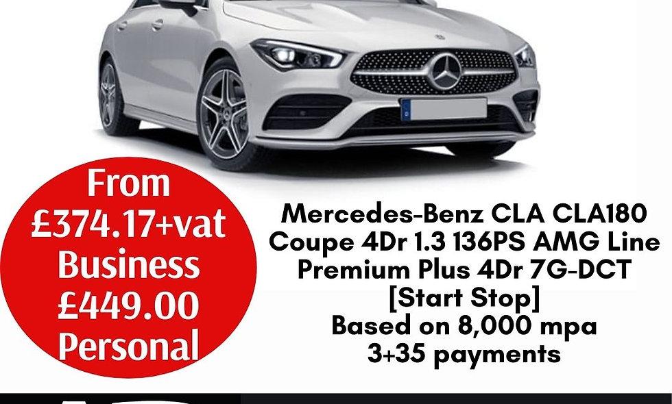 Mercedes-Benz CLA CLA180 Coupe 4Dr 1.3 136PS AMG Line Premium Plus 4Dr 7G-DCT [S