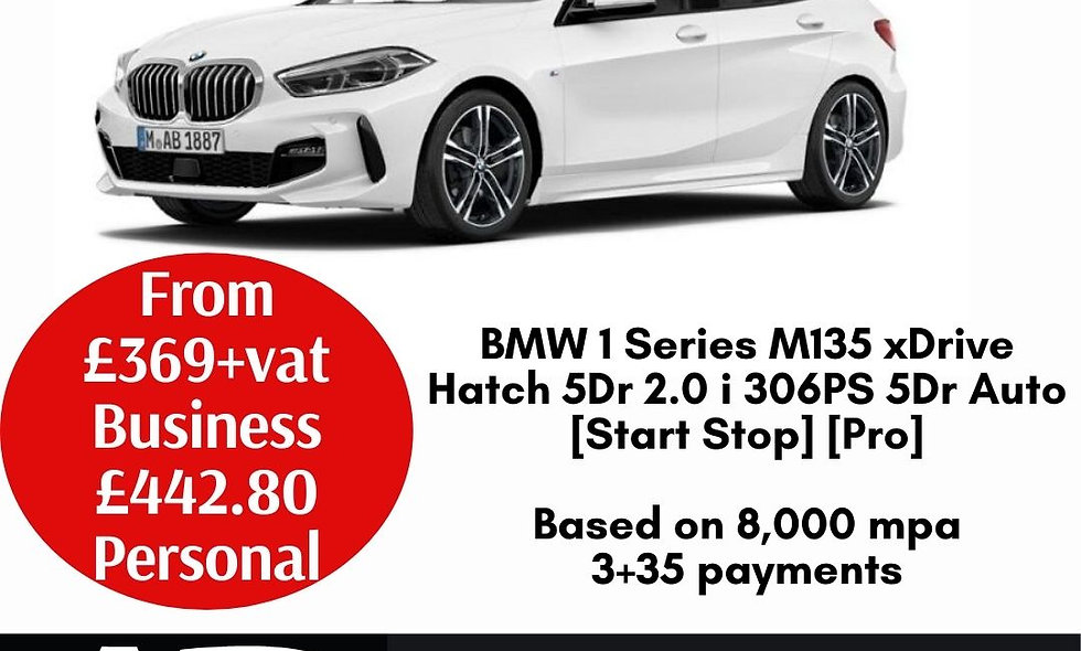 BMW 1 Series M135 xDrive Hatch 5Dr 2.0 i 306PS 5Dr Auto 5Dr Manual [Start Stop]