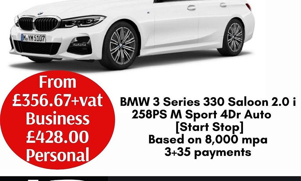 BMW 3 Series 330 Saloon 2.0 i 258PS M Sport 4Dr Auto [Start Stop]