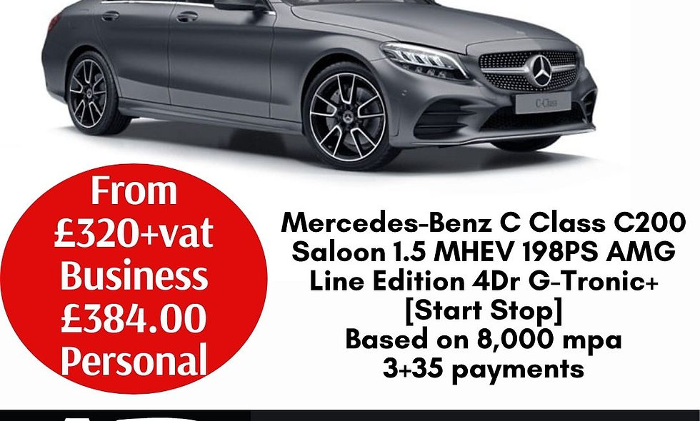 Mercedes-Benz C Class C200 Saloon 1.5 MHEV 198PS AMG Line Edition 4Dr G-Tronic+